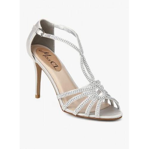 Carlton London Silver Metallic Stilettos