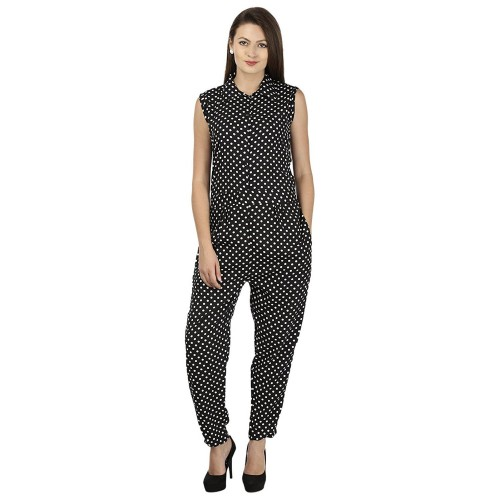 583733fa9a3 Buy My Swag Black   White Crepe Polka Dot Printed Jumpsuit online ...