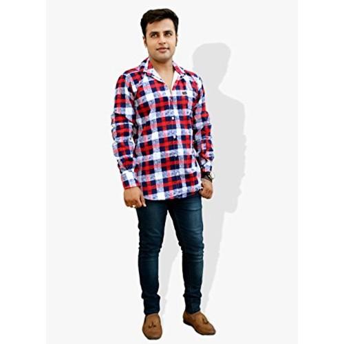 Nation Polo Club Nation Polo Club Men's Slim Fit Checkered Printed Shirt (NPC1131)