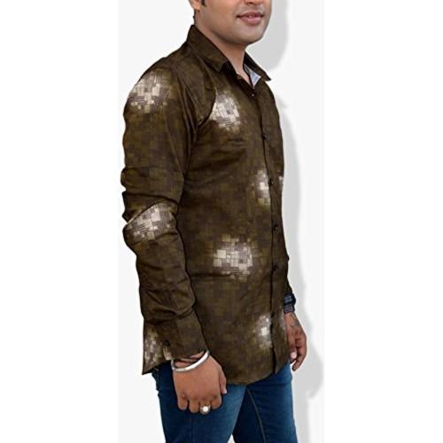 Nation Polo Club Nation Polo Club Men's Slim Fit Designer Printed Shirt (NPC1123)