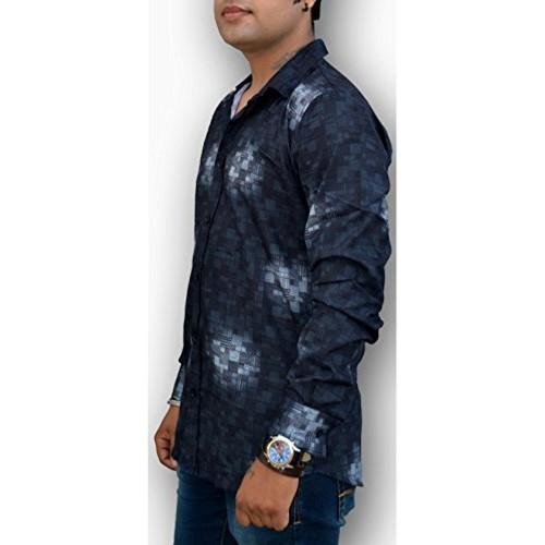Nation Polo Club Nation Polo Club Men's Slim Fit Designer Printed Shirt (NPC1121)
