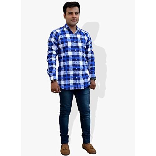 Nation Polo Club Nation Polo Club Men's Slim Fit Checkered Printed Shirt (NPC1130)
