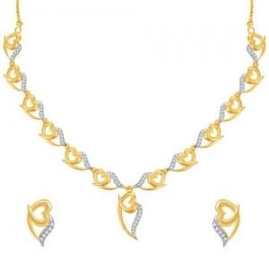 Sukkhi Stylish Gold And Rhodium Plated CZ Necklace Set