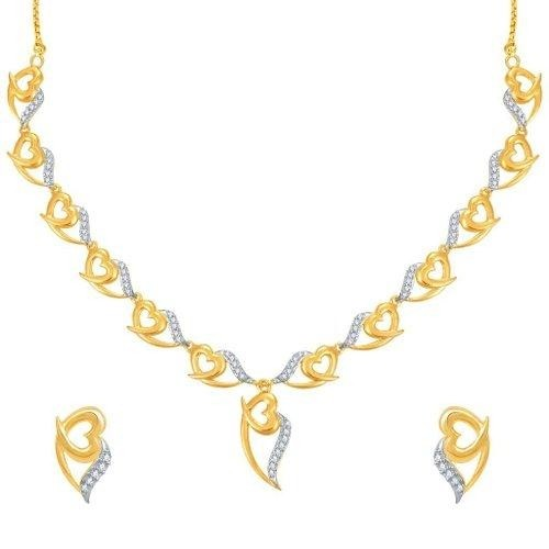 Sukkhi Stylish Gold And Rhodium Plated CZ Necklace Set