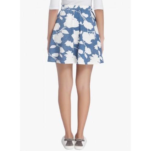 Vero Moda Blue Flared Skirt