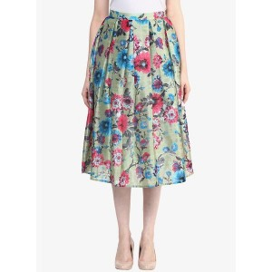 Miss Chase Multicolor Printed Flared Skirt