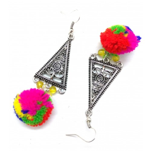 Gennext POM -POM Alloy Dangle Earring