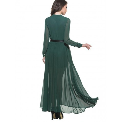 f7f36cd54cf1 Buy Rosella Teal Green Long Dress with Full Sleeve (R2113MAR2017 ...