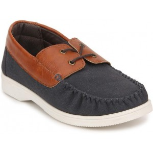 Knotty Derby Navy Synthetic Leather Casual Shoes