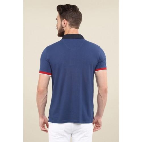 Celio Men Navy Solid Polo T-shirt