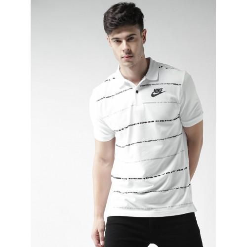 70cb63e76ffa9 Buy Nike Men White AS NSW PQ Matchup Printed Polo Collar T-shirt ...