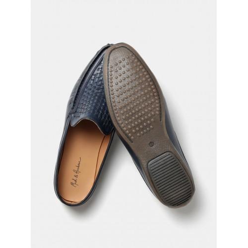 Mast & Harbour Men Navy Basketweave Loafers