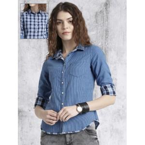 1bfa0b128b0551 Buy Stalkbuylove Beige Cathy Ruffles Shirt online | Looksgud.in
