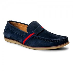 Bacca Bucci Blue Suede Leather Men Loafers