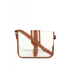 Berrypeckers White & Brown Sling Bag