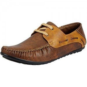 Moonster Casual Stylish Brown Synthetic Leather Boat Shoes