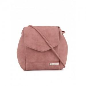 Mast & Harbour Pink Synthetic Backpack cum Sling Bag