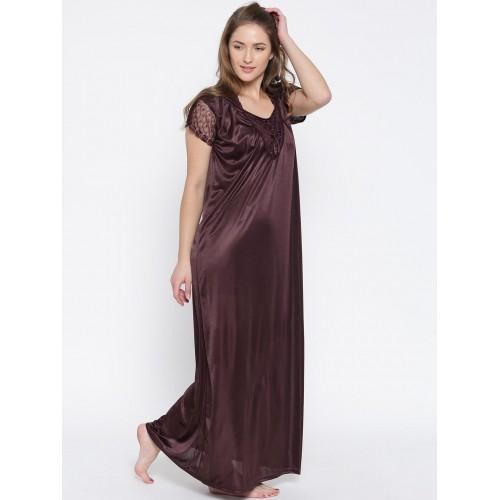 Buy Klamotten Burgundy Satin Maxi Nightdress XX90 online  ee1764c72