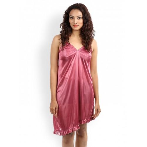 28280a95019d Buy Klamotten Pink Nightdress   Robe Set Fu09 online