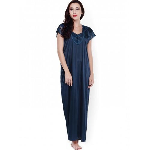 98ec50e77 Buy Klamotten Navy Satin Maxi Nightdress XX89 online