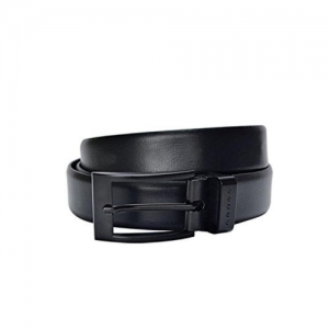 Cross Black Solid Leather Belt For Men