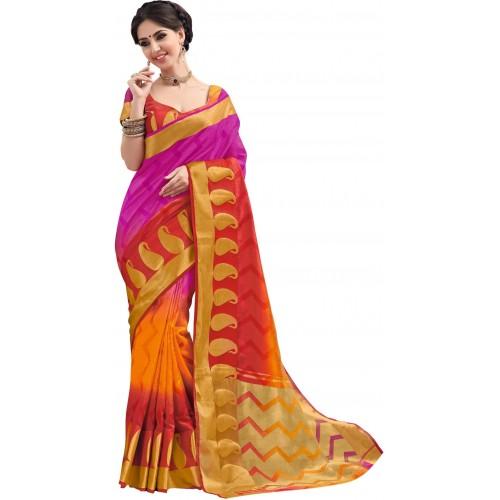 983b419b9e Buy Taanshi Self Design Kanjivaram Tussar Silk Saree online ...