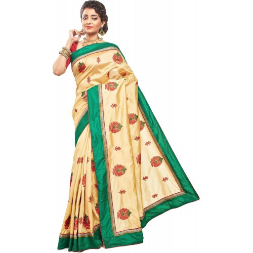 9c9c7471a00 Buy RB Sarees Embroidered Fashion Tussar Silk Saree online