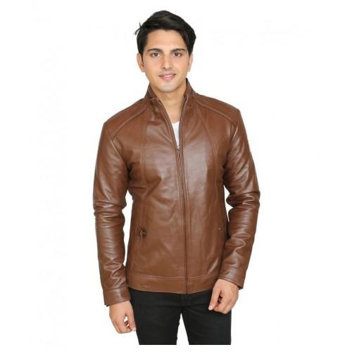 C Comfort Brown Leather Jacket
