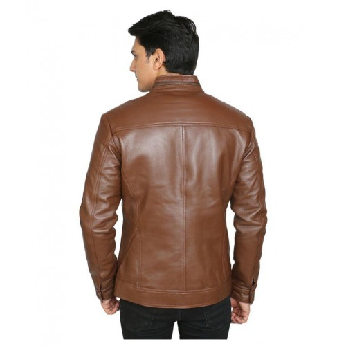 C Comfort Brown Leather Jacket