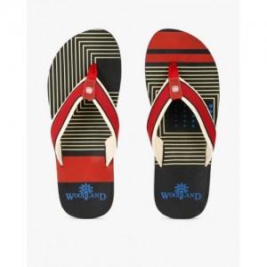 3155e3b5d72679 Buy Woodland Navy Blue   White Fabric Striped Flip-Flops online ...