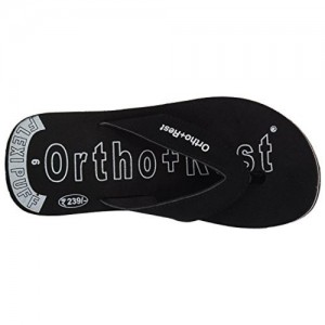 Ortho + Rest Black Slippers for Men