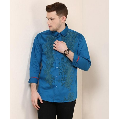227dba144ded3 Buy Yepme Enrik Blue Printed Party Shirt online | Looksgud.in