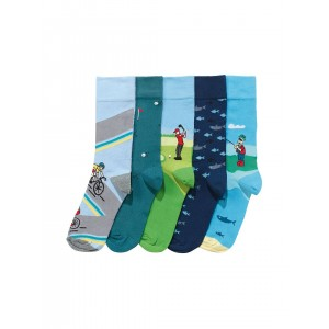 Next Multicolored Cotton Printed Socks Pack of 5