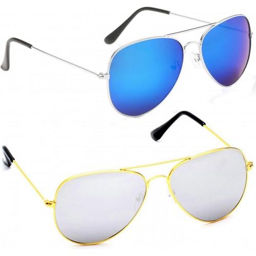 9b82479c1d1c8 AZMANI AVIATOR BLUE REFLECTOR SILVER MERCURY Aviator Sunglasses