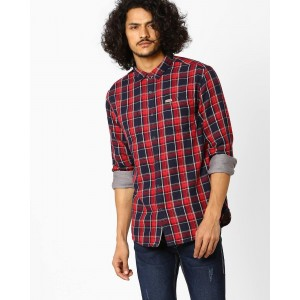 FLYING MACHINE Checked Shirt with Patch Pocket