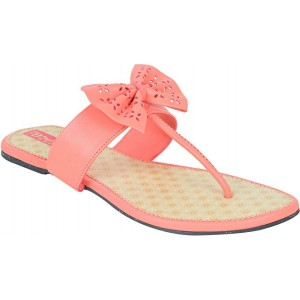 Footrendz PeachSynthetic Casual Flats