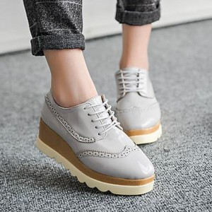Women's Gray Flats Spring Summer Fall Rubber Outdoor Shoes