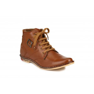 Factory London Tan Lace-up Boots