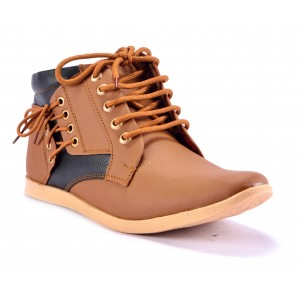 Boysons Tan Leather Solid Boot