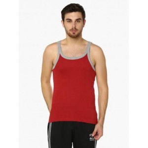 MAX Basic Red Solid Cotton Vest