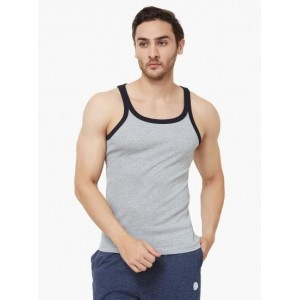 MAX Gray Solid Cotton Vest