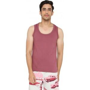 LUCfashion Men's Dusty Pink Cotton Vest