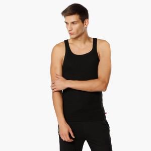 JOCKEY Black Solid Square Neck Vest