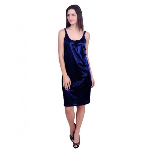 7174a7103d Buy You Forever Navy Satin Nighty   Night Gowns online