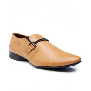 GurSmithMens Tan Slip On Formal Shoes GS125