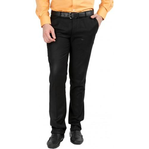 Inspire Slim Fit Men's Black Trousers