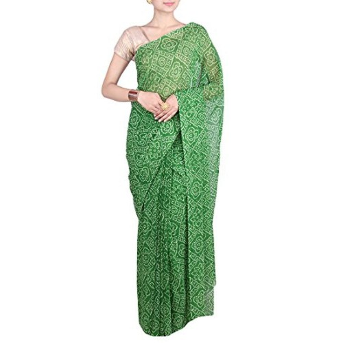 Aaradhya Fashion Aaradhya Fashion Georgette Saree (Afj-0294_Green)