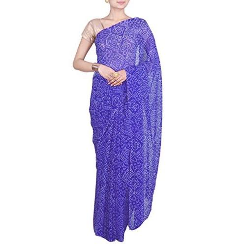Aaradhya Fashion Aaradhya Fashion Georgette Saree (Afj-0288_Blue)