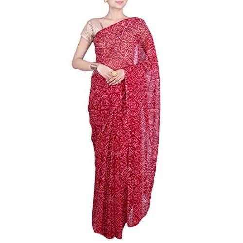 Aaradhya Fashion Aaradhya Fashion Georgette Saree (Afj-0292_Maroon)