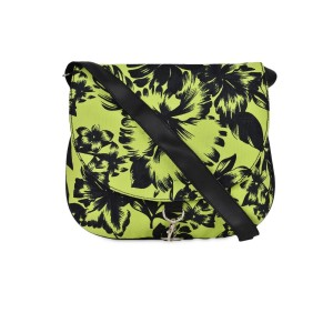 Crafts My Dream Floral Printed Green Sling Bag